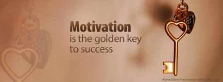 Motivation is a golden key to success Facebook Cover Photo