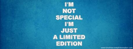 I'M Not Special Facebook Cover Photo