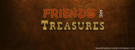 Friends Are Treasures Facebook Cover Photo