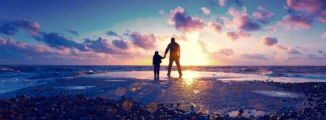Father Son Love Facebook Cover Photo