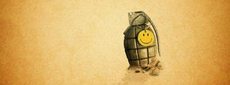 Funny Smiley Bomb Facebook Cover Photo
