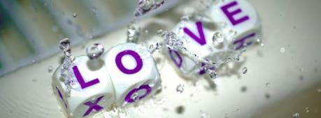Creative Love Dice Facebook Cover Photo