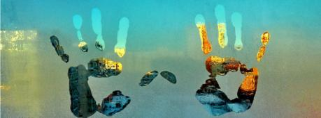 Hand Abstract Art Facebook Cover Photo