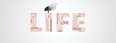 Life Typography Art Facebook Cover Photo