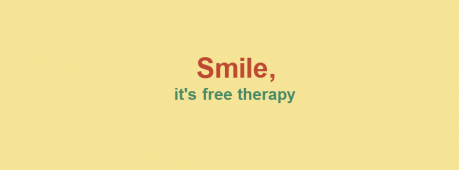 Smile It's Free Therapy Facebook Cover Photo