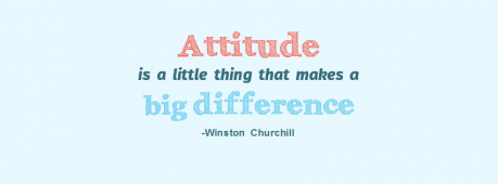 Attitude Makes Big Difference Facebook Cover Photo