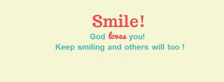 Smile! God Loves You Facebook Cover Photo