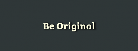 Be Original Facebook Cover Photo