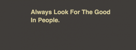 Always Look For The Good In People Facebook Cover Photo