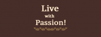 Live With Passion Facebook Cover Photo