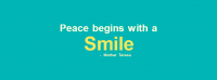 Peace Begins With A Smile Facebook Cover Photo