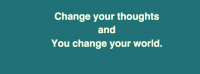 Change your thoughts and you change your world facebook cover photo